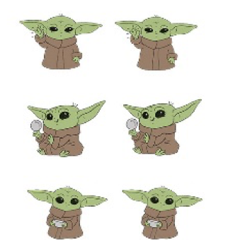 The Child Baby Yoda Earring 3 Pack