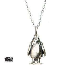 Porg 3D Necklace Sterling Silver