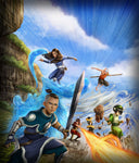 """Team Avatar""  Avatar The Last Airbender Art Print by Dominic Glover  Print Size; 16"" x 20"" on Premium Paper"