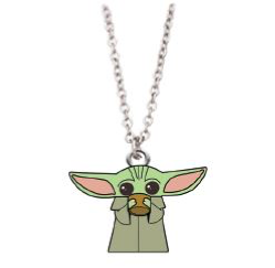 Mandalorian The Child (Baby Yoda) with Soup Bowl Necklace