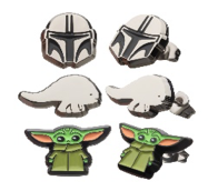 Star Wars: The Mandalorian Stud Earring 3 Pack  Featuring The Mandalorian, Blurrg, and The Child (Baby Yoda)