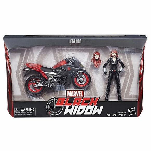 Black Widow with Motorcycle Marvel Legends Figure
