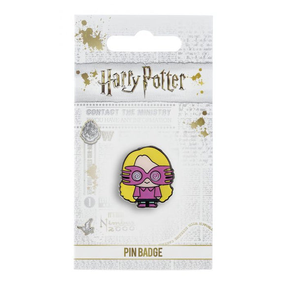 Luna Lovegood Pin Badge  This Harry Potter Pin Badge has been created using the official style guide from Warner Bros.  Enamel Pin Details:  Around .75