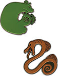 The Seven Deadly Sins Envy and Sloth Pin Set