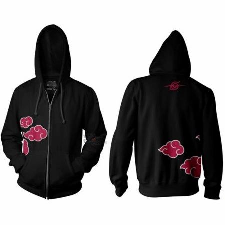 Itachi Red Clouds Full Zip Fleece Hoodie