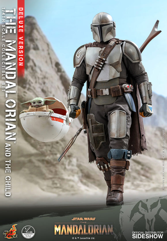 *Pre-Order* The Mandalorian and Grogu Baby Yoda Quarter Scale Figure by Hot Toys