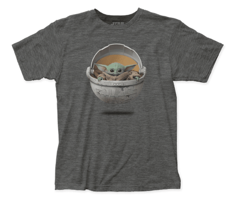 The Child in Pod Grey Star Wars Shirt