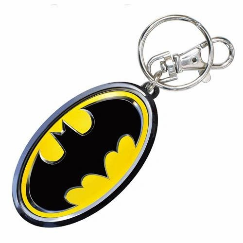 Batman Logo Pewter Color Keychain