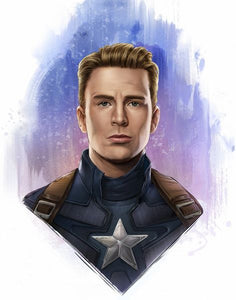 """Captain America""  Legacy Art Print by Dominic Glover     Marvel Avengers Captain America Art print.  Print Size: 11"" x 14"" on Premium Paper"