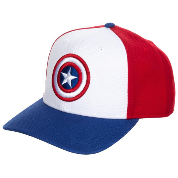 Captain America Pre-Curved Snapback Hat