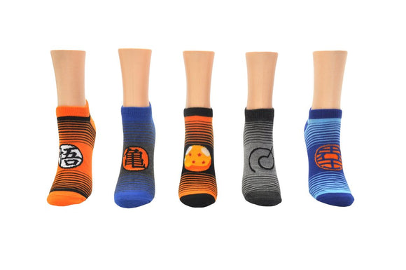 Dragon Ball Super Stripe Ankle Socks 5 Pack