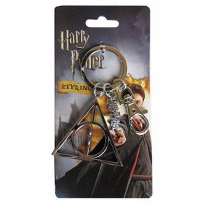 Deathly Hallows Pewter Keychain