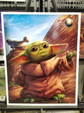 """The Child"" Star Wars The Mandalorian Baby Yoda Art Print By Artist Dominic Glover"