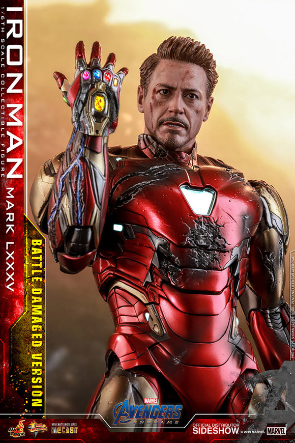 Tony Stark Iron Man Mark LXXXV Avengers: Endgame 1:6 Scale Figure by Hot Toys (Battle Damaged Version)