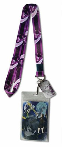 This lanyard is designed in honor of Kirito from the anime Sword Art Online (SAO).