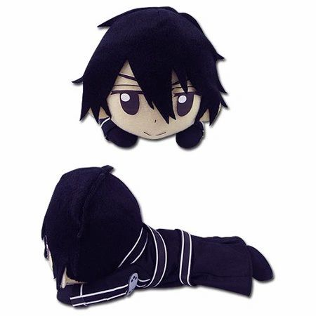 A chibi mini plush of Kirito from the anime Sword Art Online (SAO).