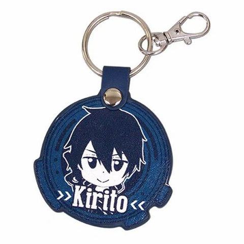 Kirito charm key chain with metal key ring and clip from the anime Sword Art Online (SAO).