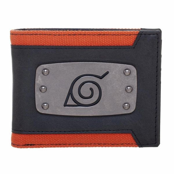 Naruto Leaf Badge Bi-Fold Wallet