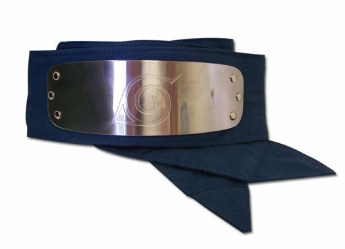 In the beloved anime Naruto,  forehead protector is a headband composed of a metal plate and a band of cloth. These iconic headbands are worn by most shinobi and are engraved with the symbol of their hidden village. Leaf Village is Naruto's village.   This fully licensed forehead protector replica features a sturdy metal plate with a stunning reflective shine, a laser engraved Hidden Village symbol, and long fabric ties.