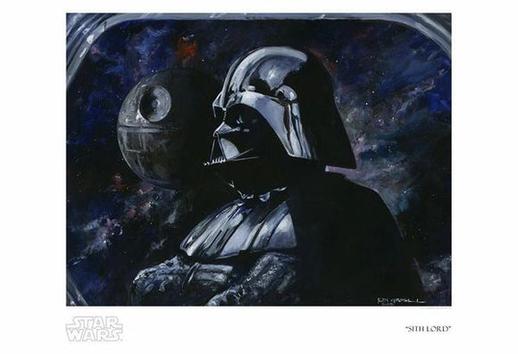 Sith Lord Sith Lord Darth Vader art print by Kim Gromoll  Star Wars: The Empire Strikes Back inspired print  Measures 19