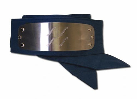 In the anime Naruto, a forehead protector is a headband composed of a metal plate and a band of cloth. These iconic headbands are worn by most shinobi and are engraved with the symbol of their hidden village.  This fully licensed forehead protector replica features a sturdy metal plate with a stunning reflective shine, a laser engraved Hidden Village symbol, and long fabric ties. The headband is made in one-size, designed to fit the average adult.