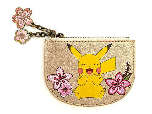 Pikachu & Eevee Floral Charm Cardholder Wallet by Loungefly