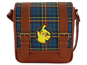Pikachu Plaid Crossbody Bag by Loungefly