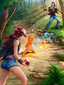 Classic Pokemon Print by Dominic Glover