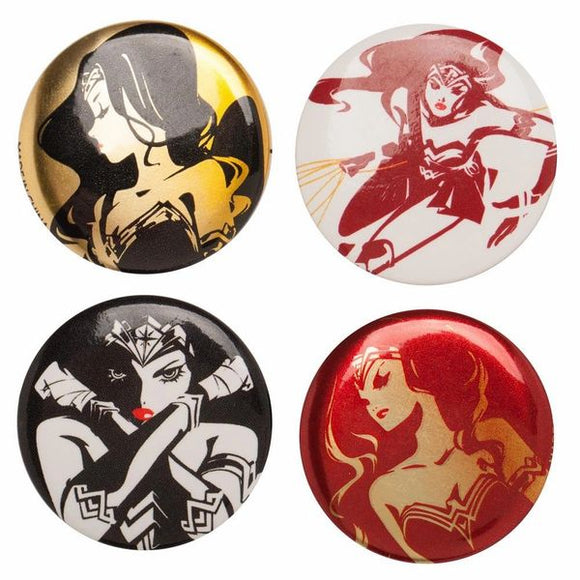 Wonder Woman Justice League Button Set