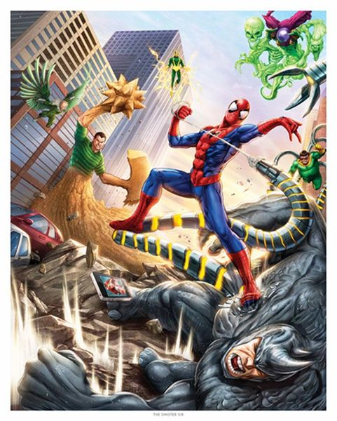 """The Sinister Six"" Spider-Man Art Print"