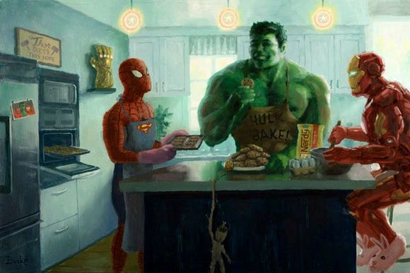 Marvel Baking Party Art Print