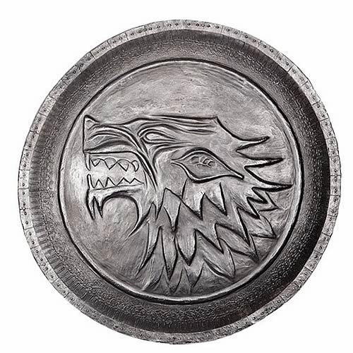 Stark Direwolf Shield Pin