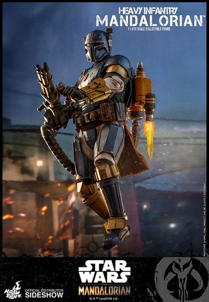 Heavy Infantry Mandalorian from Star Wars The Mandalorian 1/6th Scale Sideshow Hot Toys Premium Figure