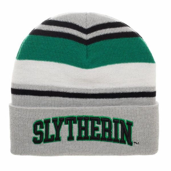 Slytherin House Striped Beanie