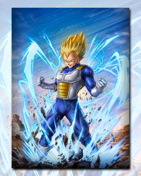 SS Vegeta Print by Dominic Glover