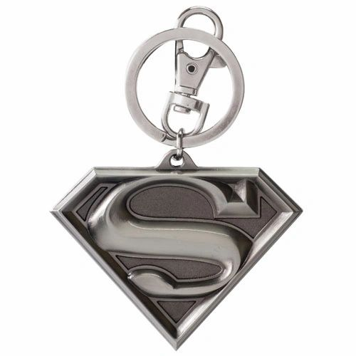 Superman Logo Pewter Keychain