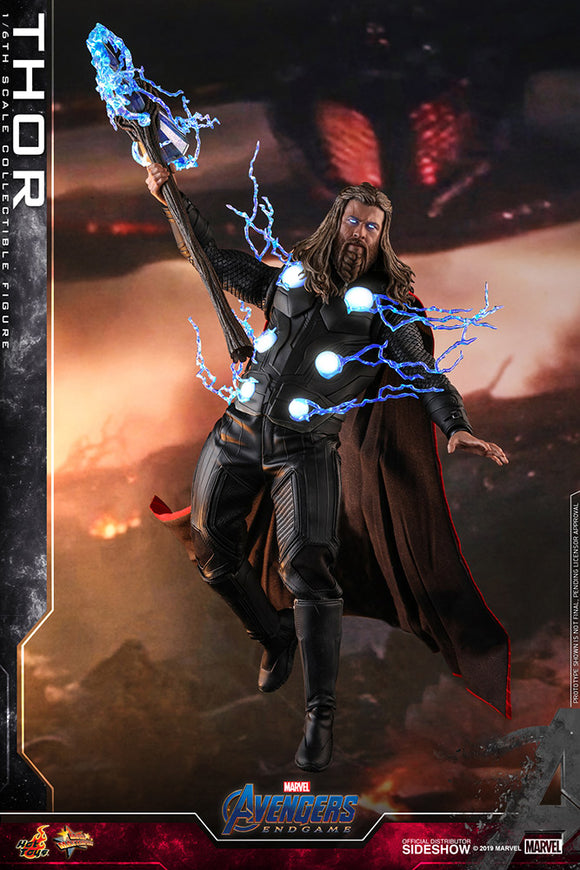 Thor Still Worthy The God of Thunder Avengers: Endgame Sideshow Hot Toys 1/6th Scale Figure