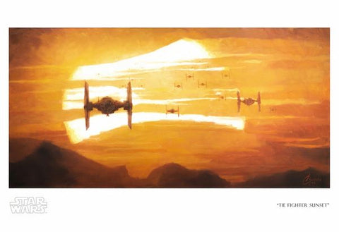 Tie Fighter Sunset Print