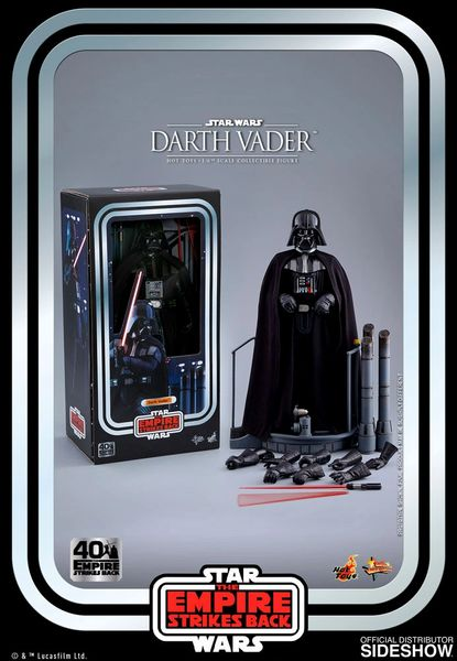 Sith Lord Darth Vader ESB  The Empire Strikes Back 40th Anniversary Movie Masterpiece Hot Toy 1/6th Scale Star Wars Figure