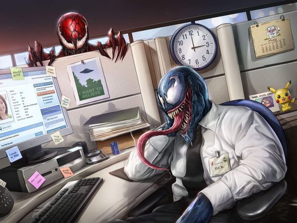 Venomous Workplace Art Print by Dominic Glover