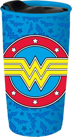 Wonder Woman Ceramic Travel Mug