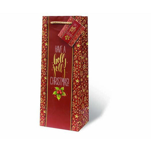 Holly Jolly Christmas Gift Bag