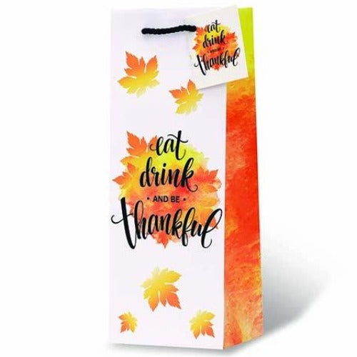 Eat Drink and Be Thankful Wine Gift Bag