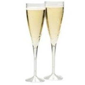 Champagne Glasses Plastic 2-4oz each