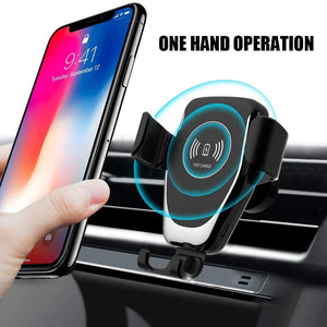 Automatic Gravity Qi Wireless Car Charger Mount
