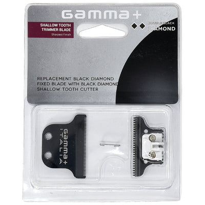 Gamma+ Double Diamond Trimmer Blade w/ DLC Fixed Blade & DLC Shallow Tooth Cutter
