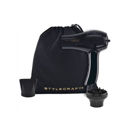 StyleCraft Peewee 1200 Compact Travel Dryer- Black