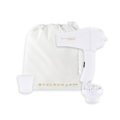 StyleCraft Peewee 1200 Compact Travel Dryer- White