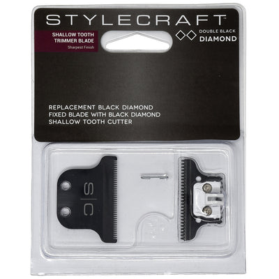 StyleCraft Double DiamondTrimmer Blade with DLC Fixed Blade and DLC Shallow Tooth Cutter
