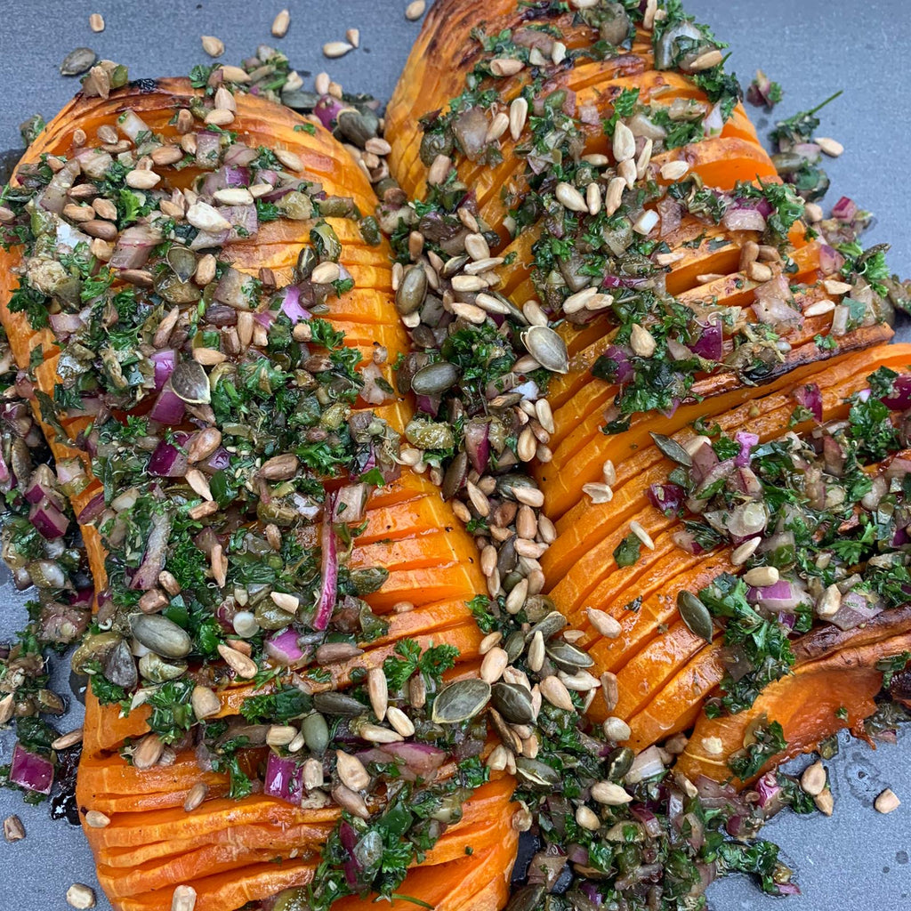 Roasted Butternut Squash with Chimichurri Sauce Recipe
